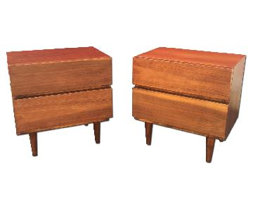 American of Martinsville Mid Century Nightstands - Pair