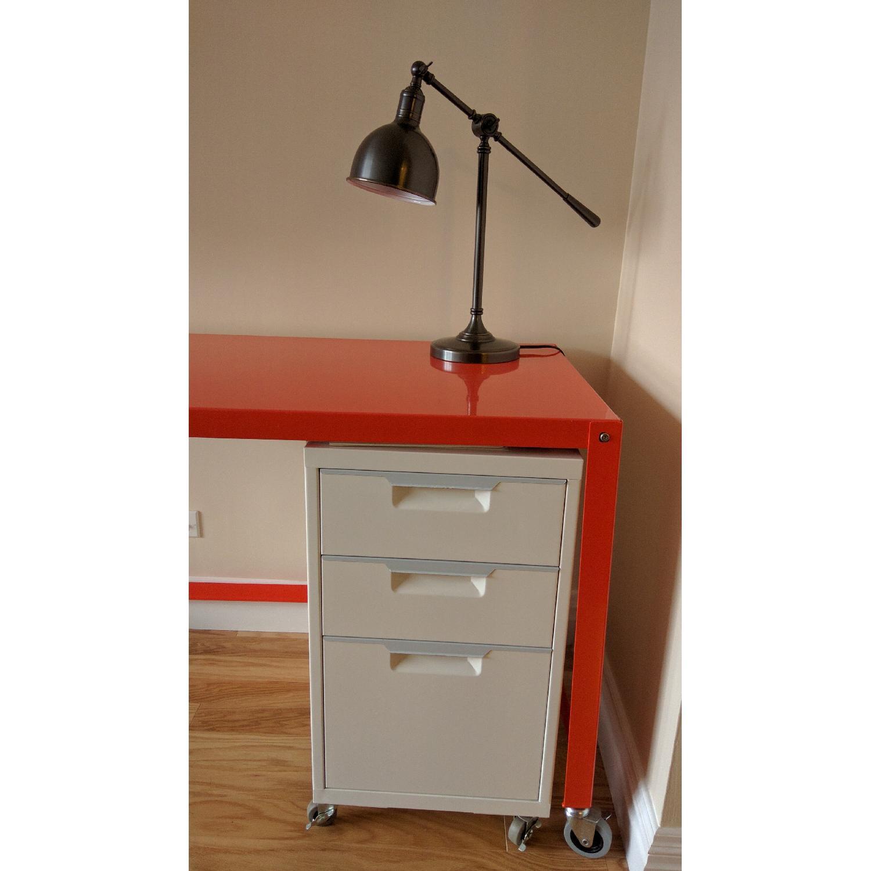 CB2 Go-Cart Desk + Cabinet + Table Lamp - image-2