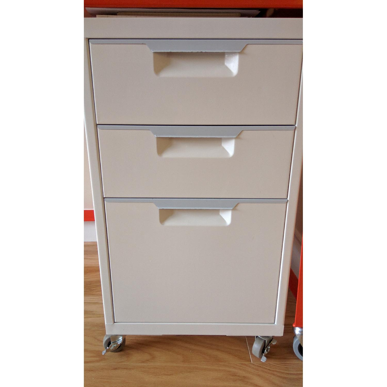 CB2 Go-Cart Desk + Cabinet + Table Lamp - image-4