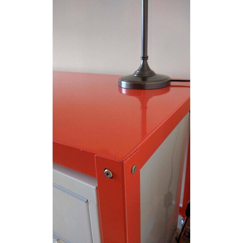 CB2 Go-Cart Desk + Cabinet + Table Lamp - image-5