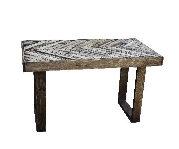 Creative X Soul Hand Distressed Reclaimed Wood Dining Table