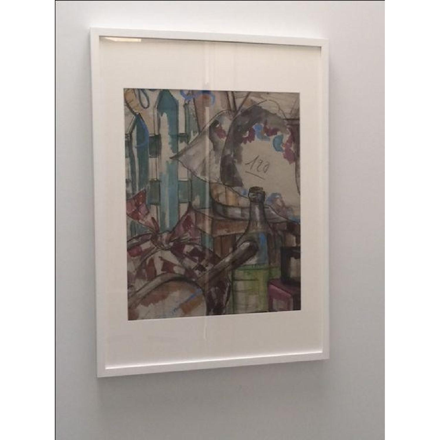 MCM French Signed Watercolor - image-1