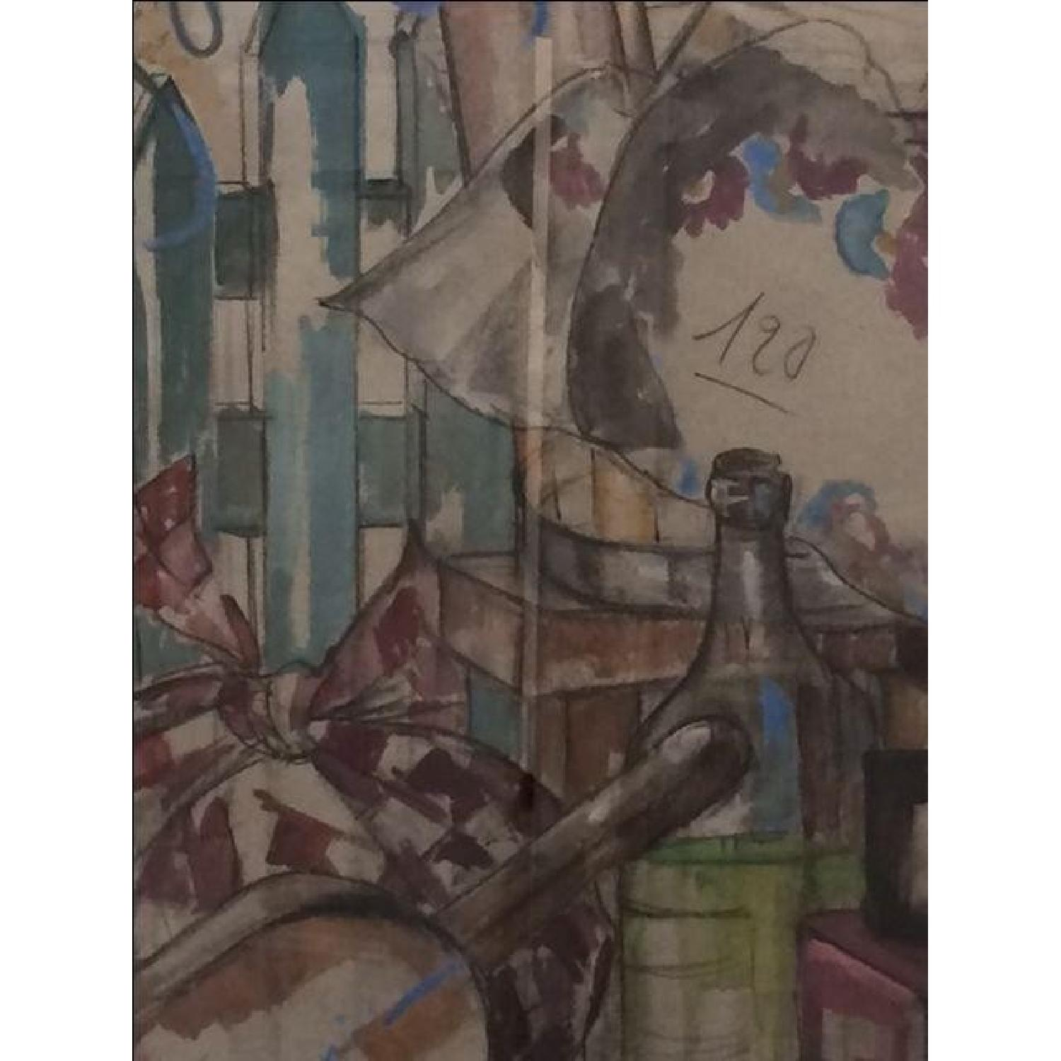 MCM French Signed Watercolor - image-3