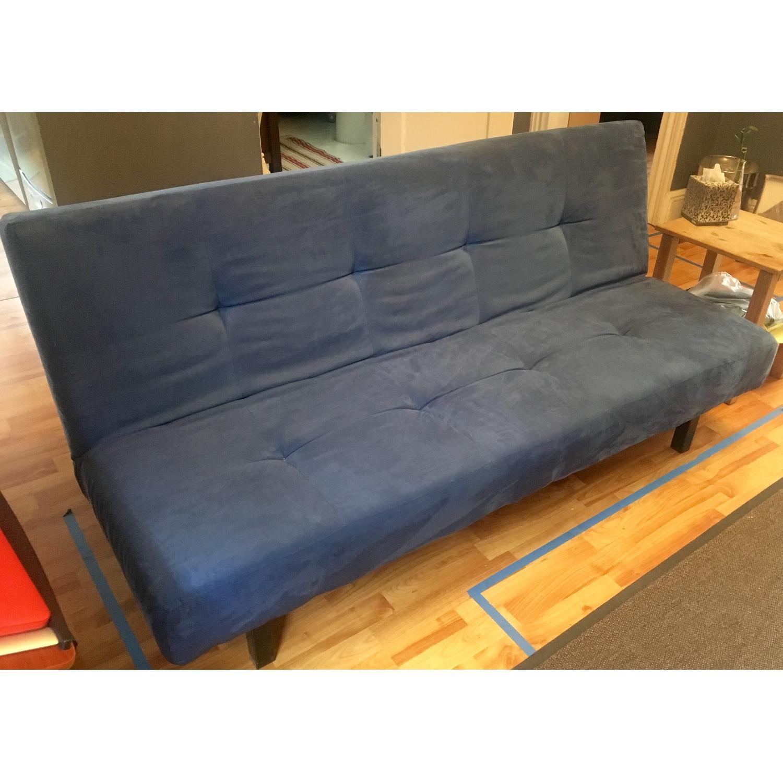 Ikea Balkarp Sofa Bed In Blue Aptdeco