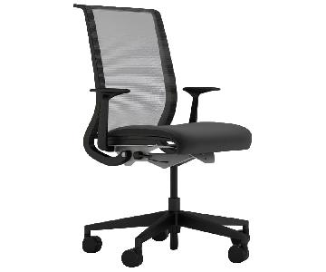 Crate & Barrel Think Office Black Chair w/ Arms
