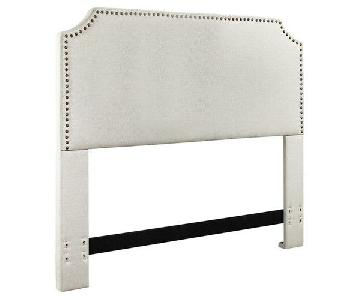 Mercury Row Luna Nail Trim Upholstered Full/Queen Headboard