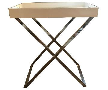 West Elm Lacquer Butler Tray & Stand