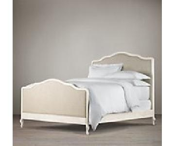 Restoration Hardware Lorraine Queen Wood Upholstered Bed