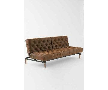 Urban Outfitters Vegan Leather Chesterfield Sleeper Sofa