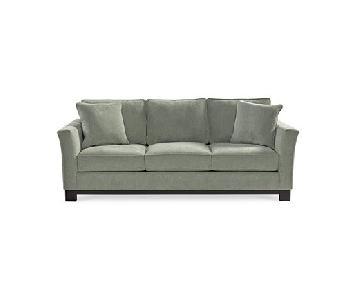 Macy's Kenton Sage Green Sofa