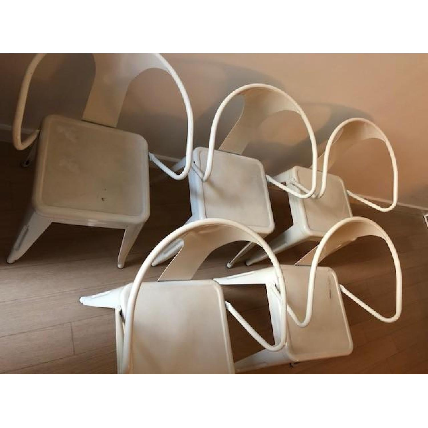 ... White Tabouret Stacking Chair 2