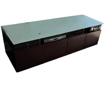Contemporary Media Console w/ Storage