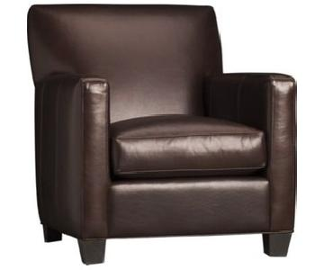 Crate & Barrel Leather Club Chair
