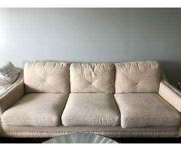 Bob's Cream 3 Seater Sofa