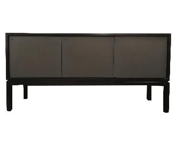 Crate & Barrel Cirque Sideboard in Mahogany & Grey