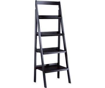 Ethan Allen Black Ladder Bookshelves