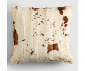 World Market Faux Cowhide Throw Pillow