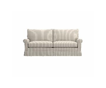 Crate & Barrel Harborside Slipcovered Apartment Sofa