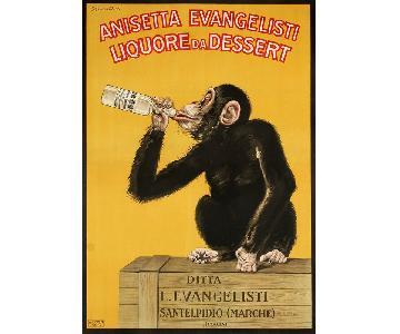 Vintage Carlo Biscaretti Poster 1925 - Anisetta Evangelisti