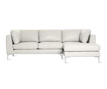 Design Within Reach Albert White Leather Sectional Sofa