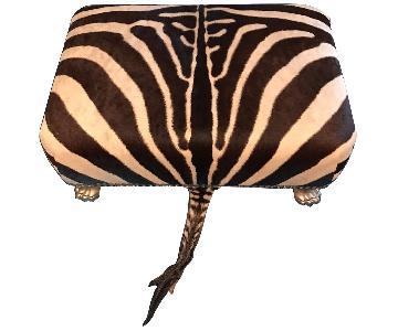 Custom Zebra Skin Bench