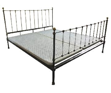 Alice's Antiques Cast Iron King Size Bed