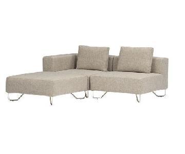 CB2 Lotus 3-Piece Sectional Sofa
