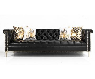 ModShop Faux Leather Chesterfield Sinatra Sofa