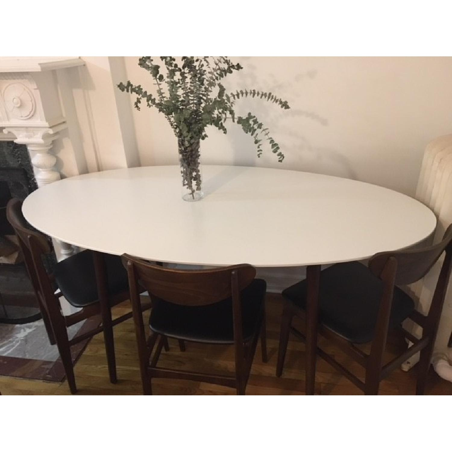 ... White Oval Dining Table 1
