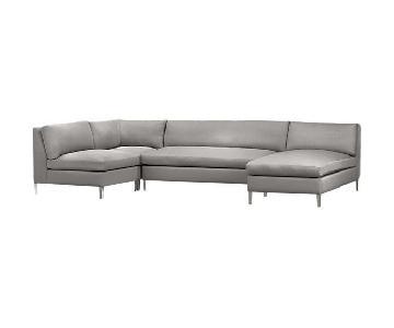 CB2 Cielo 4-Piece Sectional Sofa