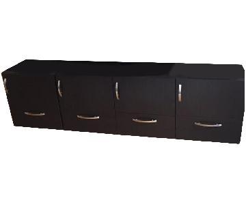 Wood TV Stand w/ Storage