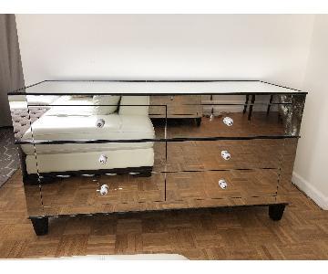 Mirrored Art Deco Double Dresser