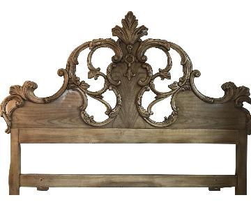 Roma Furniture Solid Carved Wood Headboard