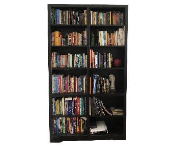Black Painted Custom Wood Bookcase