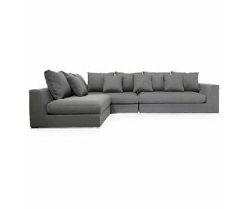 Brayden Studio Sather Living Grey 3-Piece Sectional Sofa