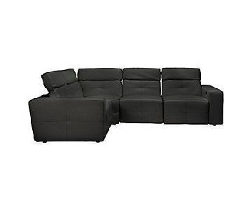 Z Gallerie Milan 4-Piece Reclining Black Sectional Sofa