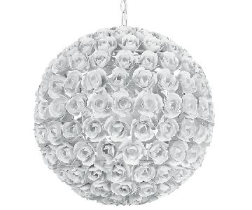 Crystorama Cypress White Rose Sphere Chandelier