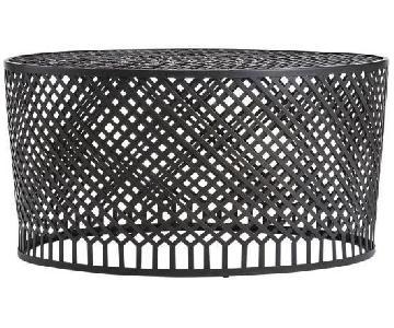 Crate & Barrel Braiden Woven Metal Coffee Table