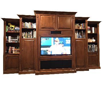 Custom Solid Wood Wall Unit