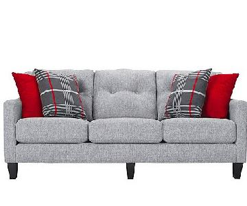 Raymour & Flanigan Modern Grey Couch