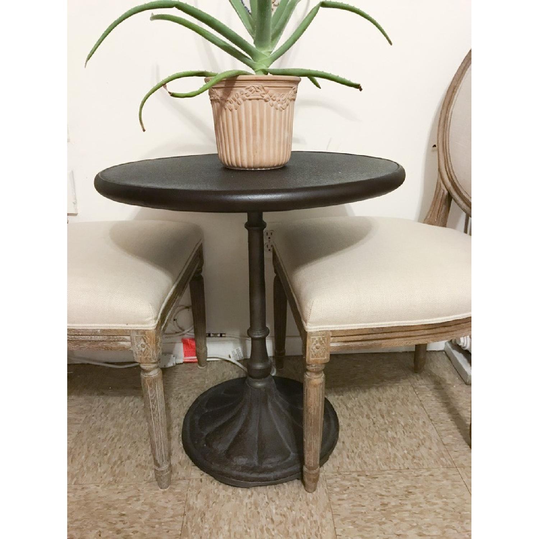 Restoration Hardware Vintage French Round Fabric Back Chairs - image-1