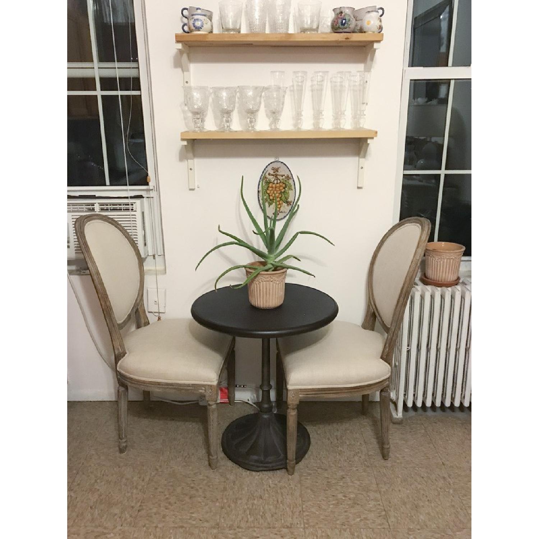 Restoration Hardware Vintage French Round Fabric Back Chairs - image-6