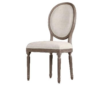Restoration Hardware Vintage French Round Fabric Back Chairs