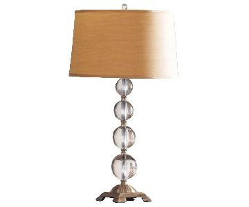 Neiman Marcus Crystal Ball Table Lamps