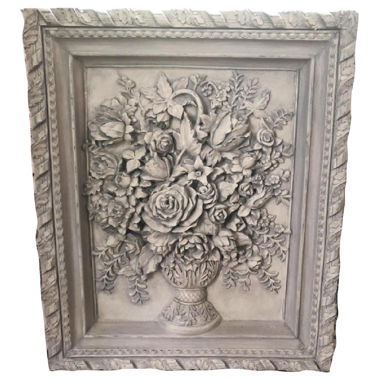 Horchow Flower Wall Sculpture Art
