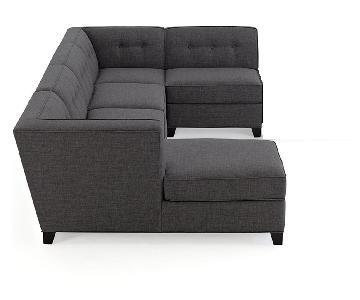Macy's Mid-Century Style 5-Piece Sectional Sofa