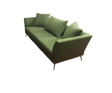 Ligne Roset Green Patterned Sofa