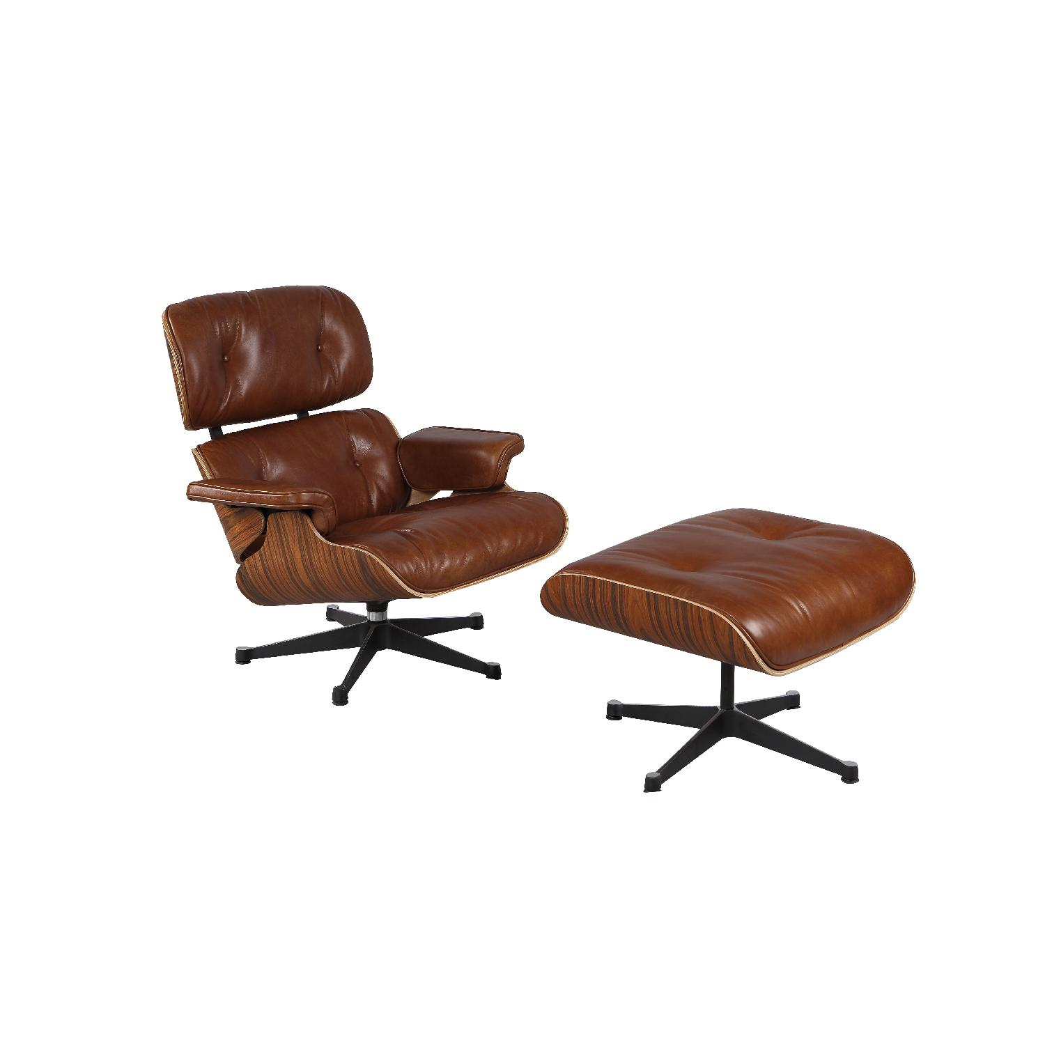 Mid Century Modern Classic Eames Lounge Chair Replica - AptDeco