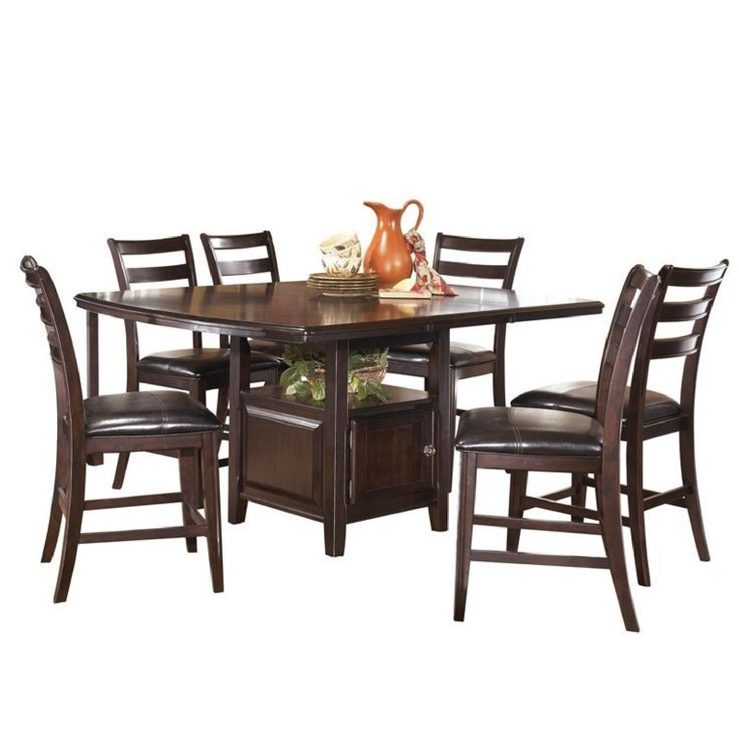 Ashley Ridgley Counter Height Extendable 7 Piece Dining Set ...
