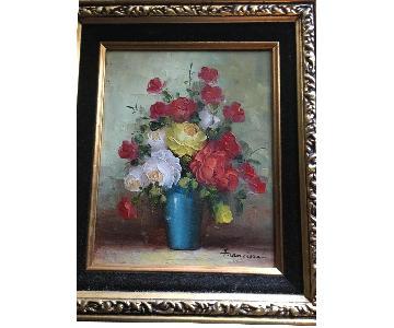 Vintage Still Life Oil Painting